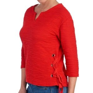 Red grommet accent top  - Medium NWT